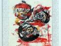 Serie: Poesie  -  G. Stein -  Eine Rose...  /  60 x 50