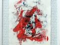 Serie: Poesie - H. Heine - Meiner Liebe Flammen / 60 x 50